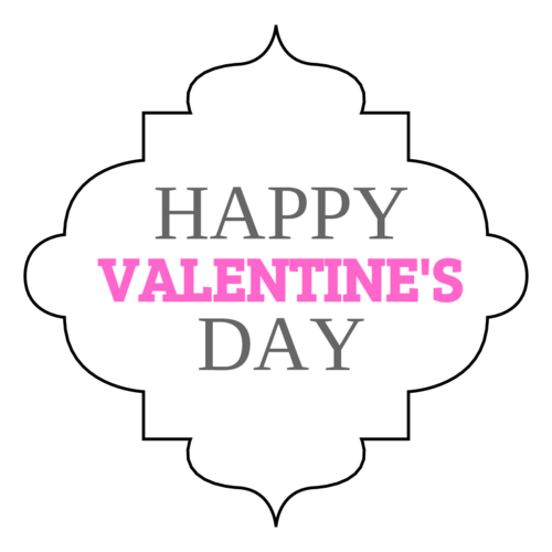 """Happy Valentines Day"" Decorative Label"