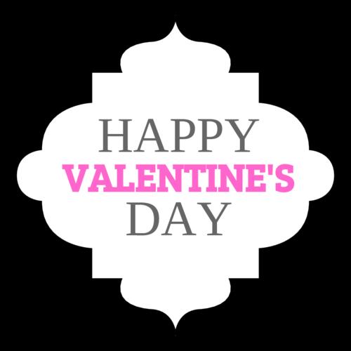"""""""Happy Valentines Day"""" Decorative Label"""