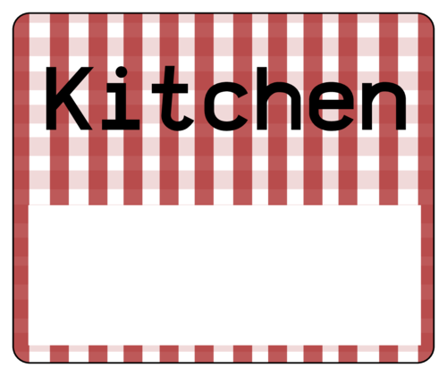 Moving Box Label: Kitchen