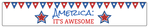 """America It's Awesome"" Funny Water Bottle Label"