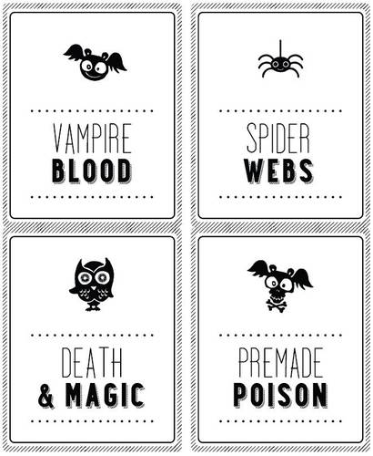 Halloween Party Decor Soda Bottle Labels Printable