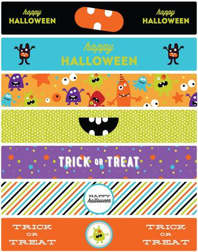 Monster Mash Halloween Water Bottle Labels Printable