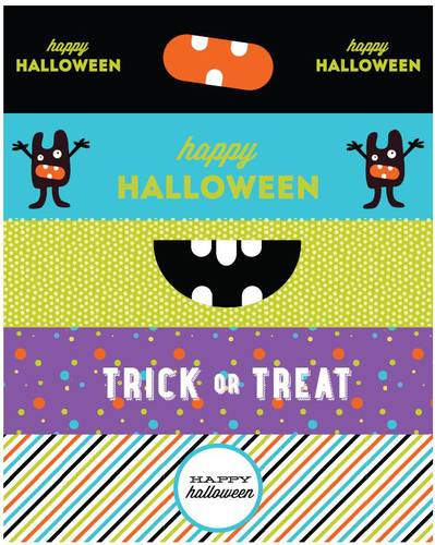 Halloween Monsters Water Bottle Labels Printable