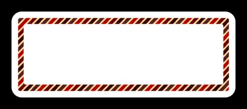 Crimson Diagonal Address Label