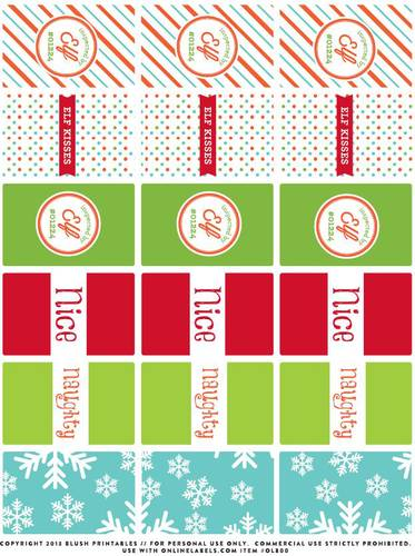 Magical Elf Christmas Candy Labels Printable