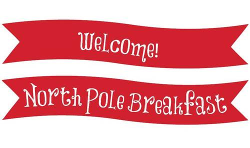 North Pole Christmas Welcome Banner Printable