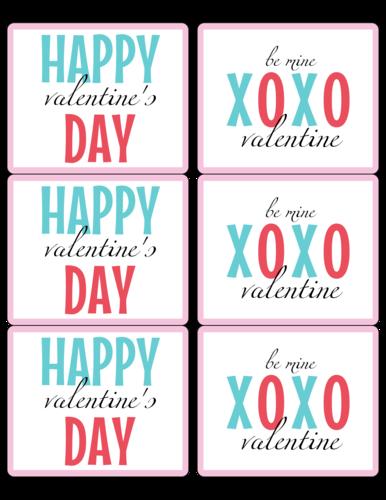Happy Valentine's Day XOXO Wine Bottle Label