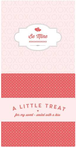 """Be Mine"" Valentine's Candy Bar Wrapper"