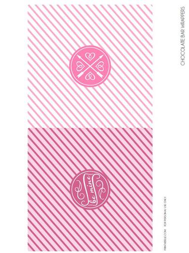 Full-Size Chocolate Bar Valentine's Day Label Printable