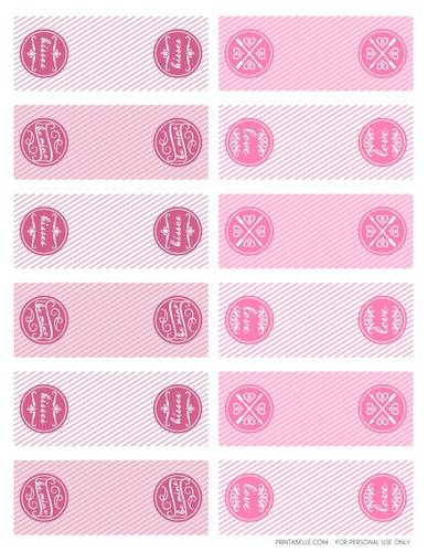Assorted Valentine's Day Tic Tac Box Labels