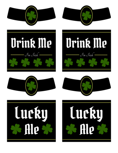 Four Leaf Clover Beer Label Printable