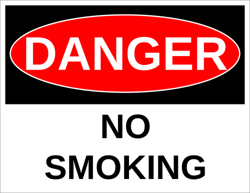 """Danger - No Smoking"" Label"