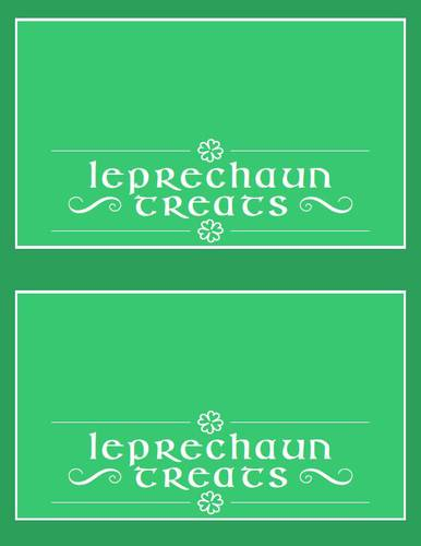 """Leprechaun Treats"" St. Patrick's Day Bag Topper Printable Sticker"