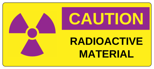 """Caution Radioactive Material"" Label"