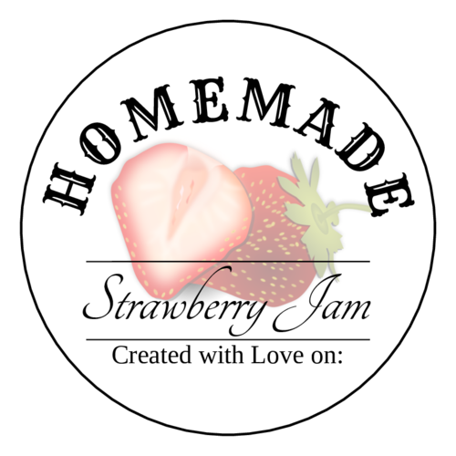 Homemade Strawberry Jam Label Printable