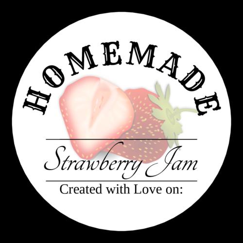 Homemade Strawberry Jam Label Printable