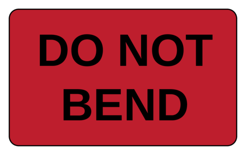 """Do Not Bend"" Shipping Label"