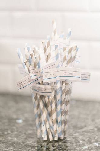 DIY Fun Party Straw Flags with Funny Sayings - Free Download