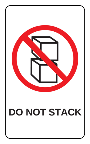 """Do Not Stack"" Warehouse Label"