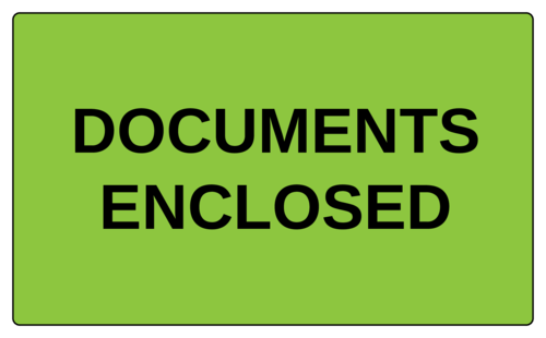 """Documents Enclosed"" Label"