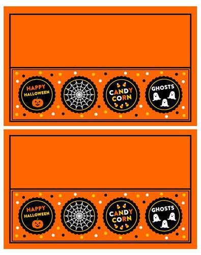 Halloween Plastic Bag Treat Topper Labels Printable