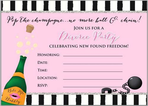 Divorce Party Full Sheet Invitation