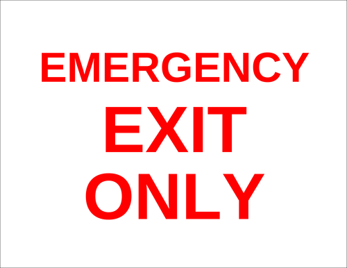 """Emergency Exit Only"" Sign"