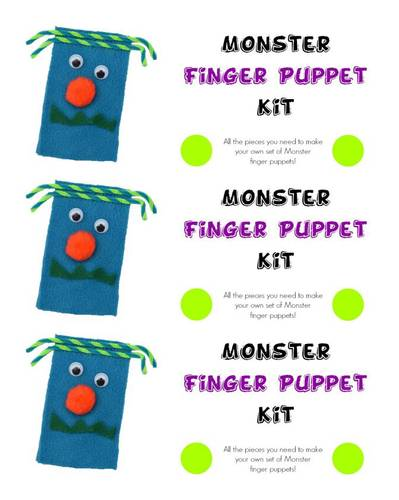 Monster Finger Puppet Kit
