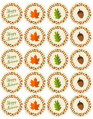 Decorative Autumn Stickers Printable