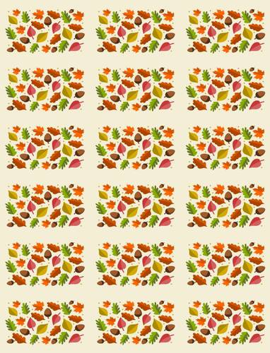 Autumn Leaf Mini Candy Bar Label