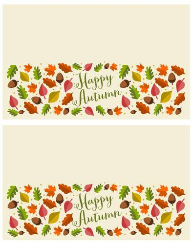 Autumn Leaf Treat Topper Label