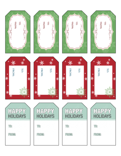 Holiday Gift Tag To & From Label