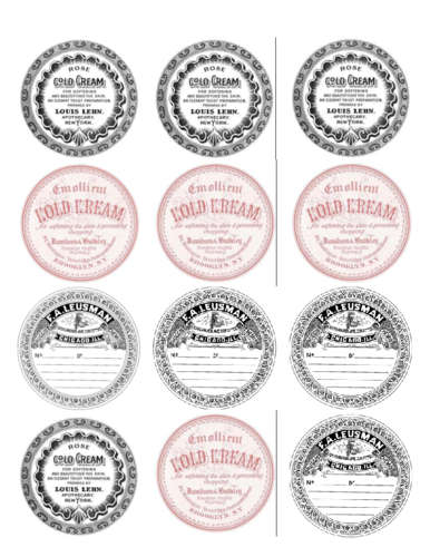 Assorted Vintage Label Printable