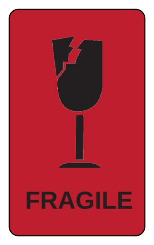 It is a photo of Printable Fragile Label for fragile package