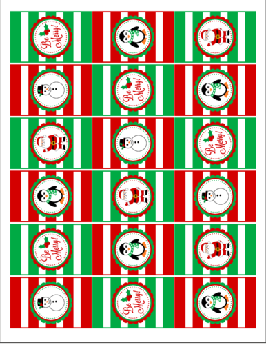 Christmas Hershey's Mini Candy Bar Label