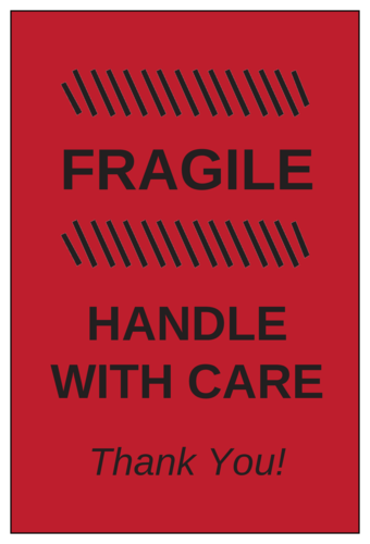 """Fragile - Handle with Care"" Shipping/Moving Label"