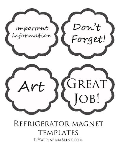 Easy Full Sheet Refridgerator Magnet