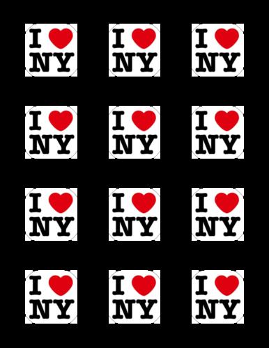 """I Love NY"" Label Printable"