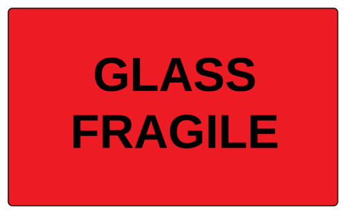 """Glass Fragile"" Label"
