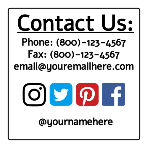 "Editable ""Contact Us"" Label"