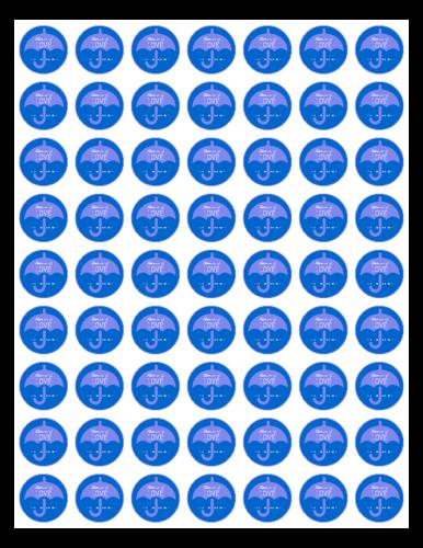 Baby Shower Blue Umbrella Favor/Decoration Label