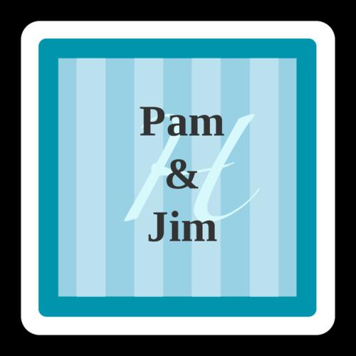 Hamilton-Style Azure Wedding Label