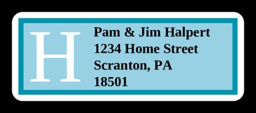 Hamilton Azure Wedding Address Label