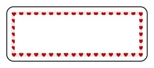 Heart Border Address Label