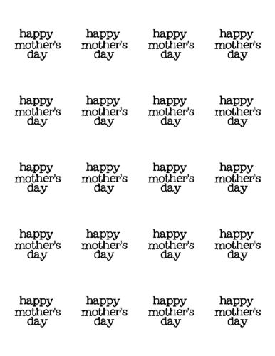 """Happy Mother's Day"" Label Printable"