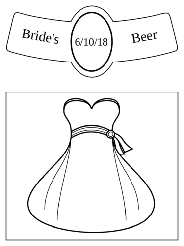 Wedding Bride Beer Bottle Label
