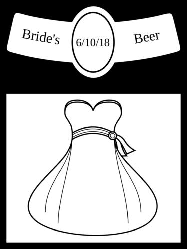 Wedding Bride Beer Bottle Label
