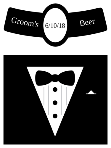 Wedding Groom Beer Bottle Label