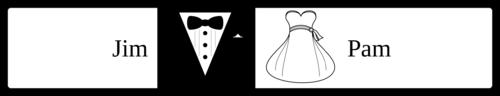 Wedding Bride & Groom Water Bottle Label