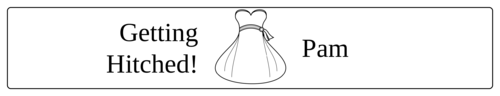 Wedding Bride Water Bottle Label
